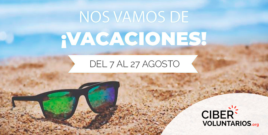 Nos vamos de vacaciones :)