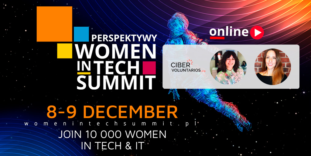 Cibervoluntarios.org participa en el Women in Tech Summit 2020