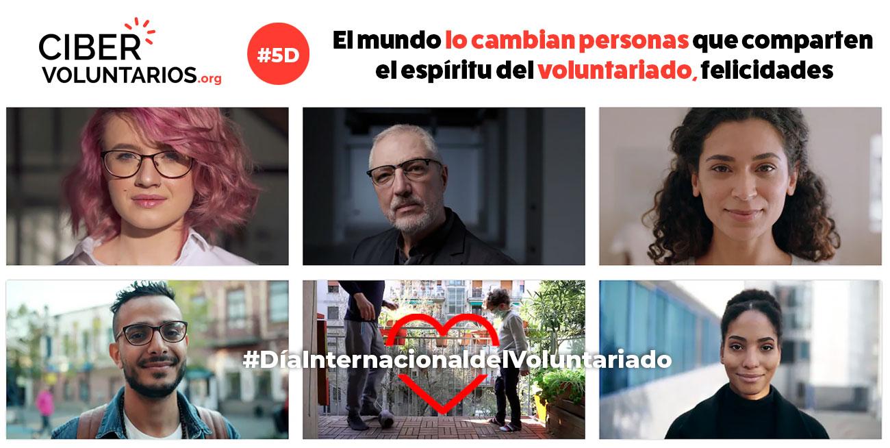 El mundo lo cambian personas que comparten el espíritu del voluntariado, felicidades