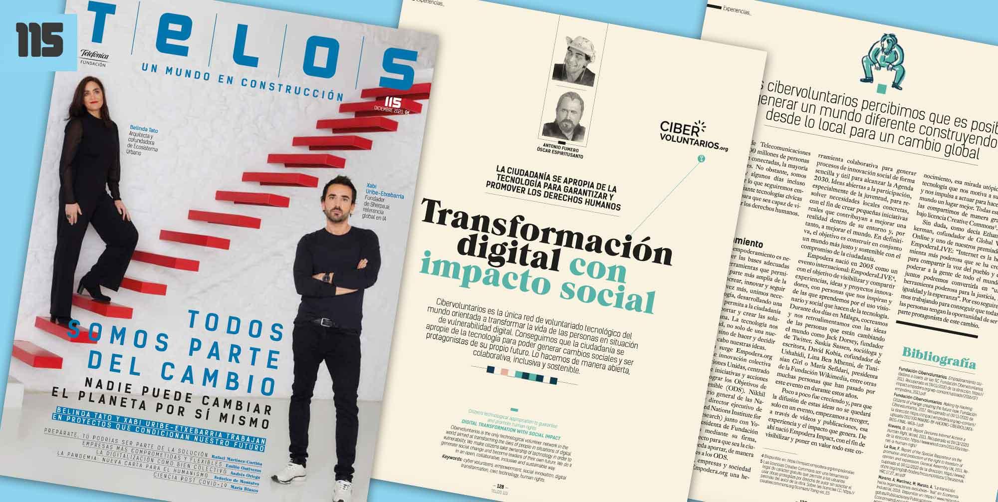 Transformación digital con impacto social: nuevo artículo de Cibervoluntarios en la Revista Telos