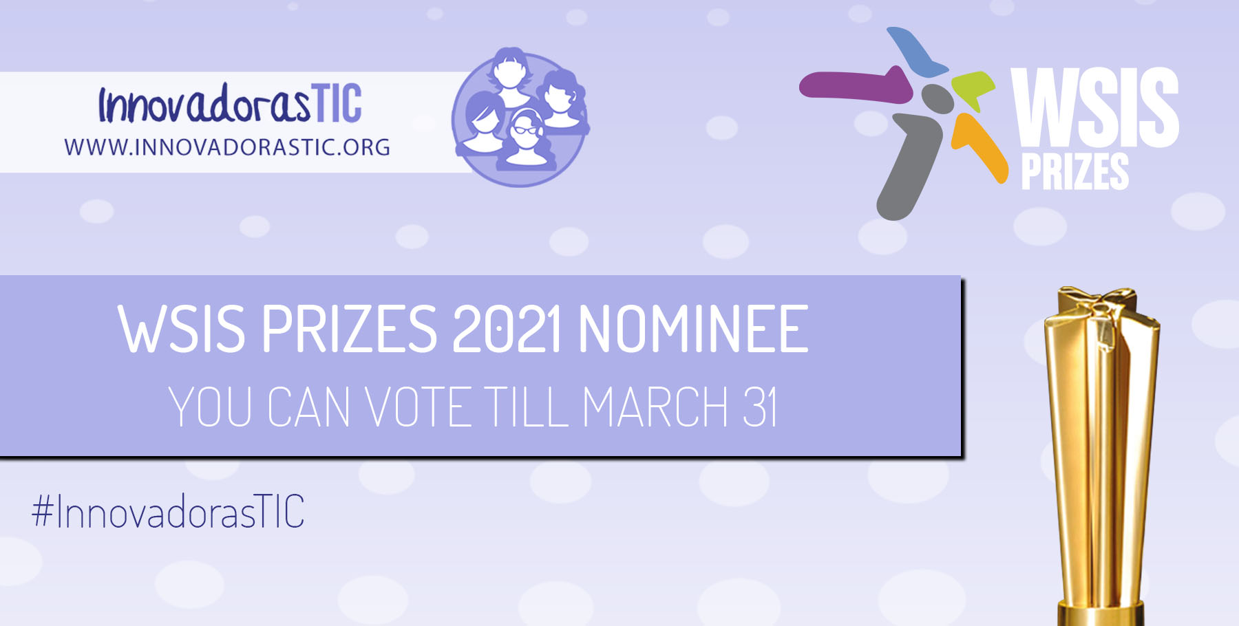 InnovadorasTIC nominated for the WSIS Prizes 2021: your vote can make the difference