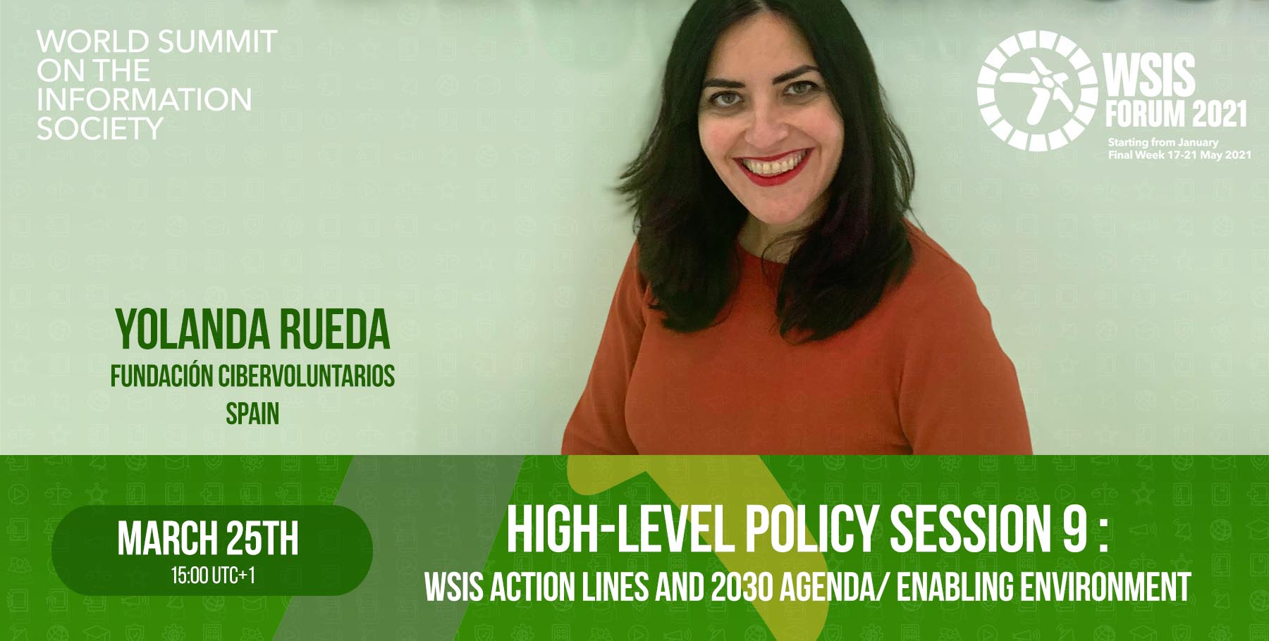 Cibervoluntarios in the High-Level Policy Session 9: WSIS Action Lines and 2030 Agenda